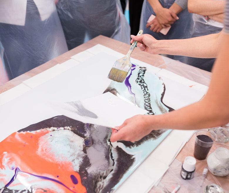 Lithographie et acrylique 2